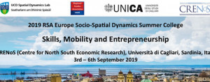 2019 RSA Europe Socio-Spatial Dynamics Summer College